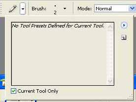 Pencil Tool Presets Palette